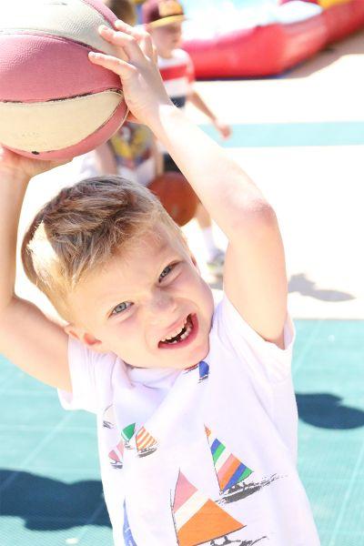 Boy Throwing Basketball at Dream Big Summer Day Camp   Hilltop Denver and Greenwood Village