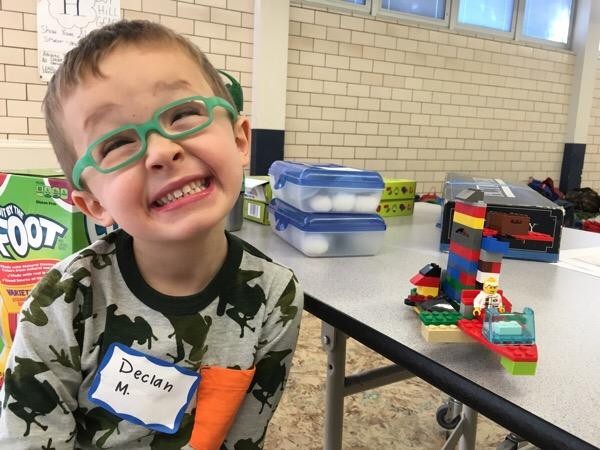Boy Building with Legos at Dream Big Summer Day Camp | Hilltop Denver and Greenwood Village
